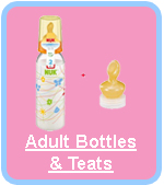 Cuddlz Adult ABDL Bottles & Teats For Sale