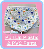 Cuddlz Pull Up Plastic PVC Pants For Adults