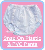 Cuddlz Snap On Plastic PVC Pants For Adults